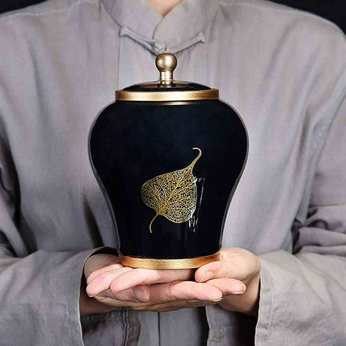 Luxurious Pet Cremation Memorial Urn Jar For Dog Cat Bird Mouse Ashes Storage Box