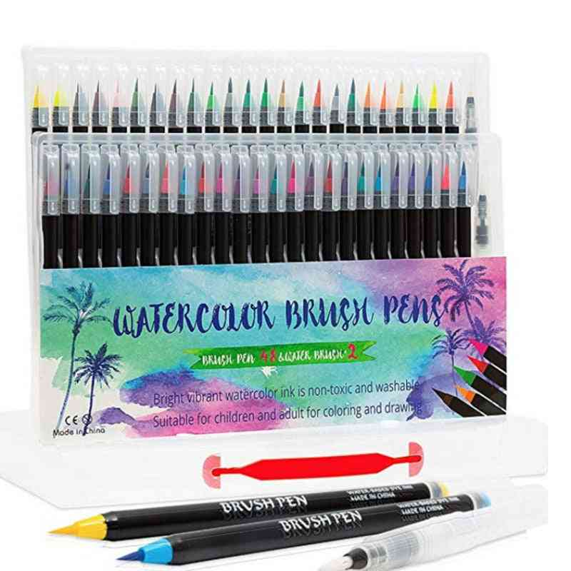 48 Colors Art Marker Watercolor Brush Pen For Painting Drawing (48 Colors)