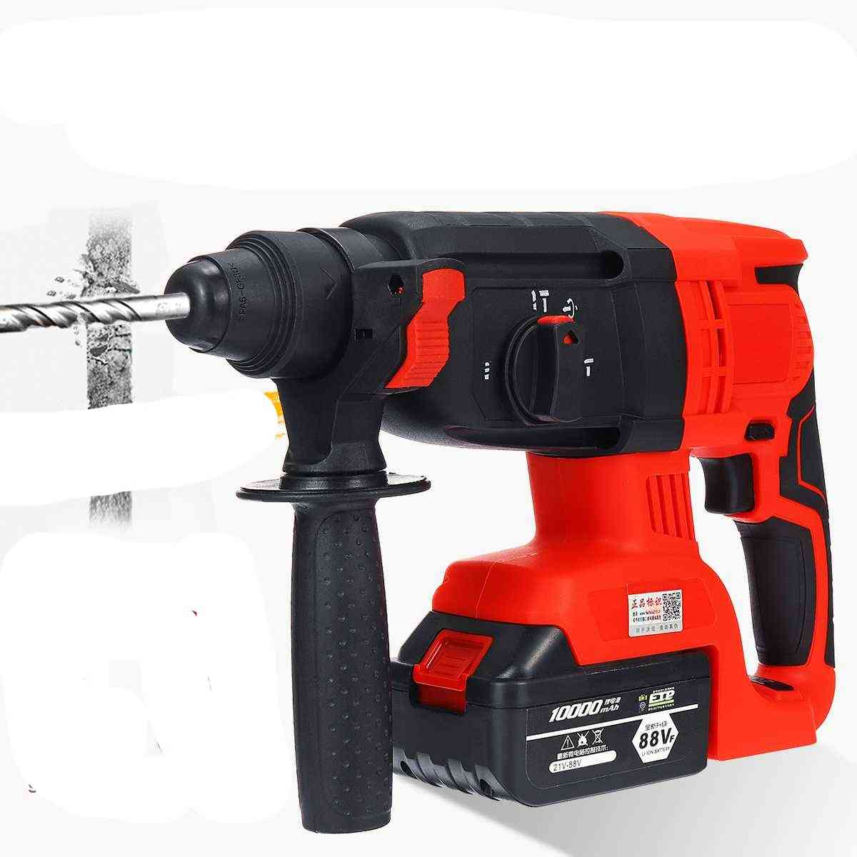 Electric Cordless Brushless Hammer Impact Power Drill