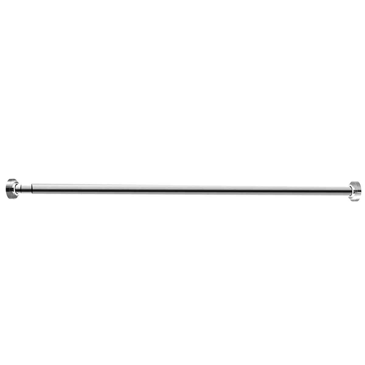 Shower Curtain Pole Adjustable Stainless Steel Spring Tension Rod Rail