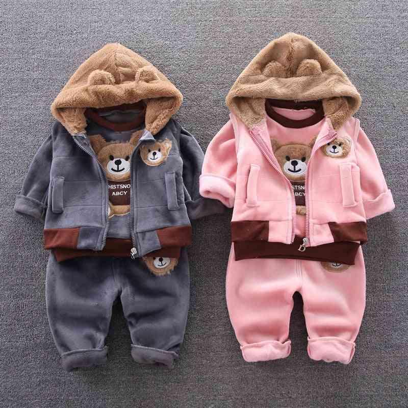 Baby New Cotton Three-piece Leisure Sports Stars Denim Clothes Suit