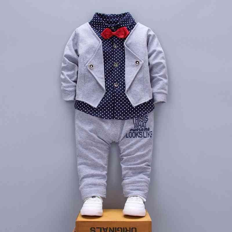 Baby New Cotton Three-piece Leisure Sports Stars Denim Clothes Suits