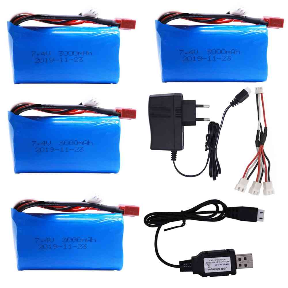 Lipo Battery 18650 For Q46 Wltoys 10428 /12428/12423 Rc Car Spare Parts With Charger