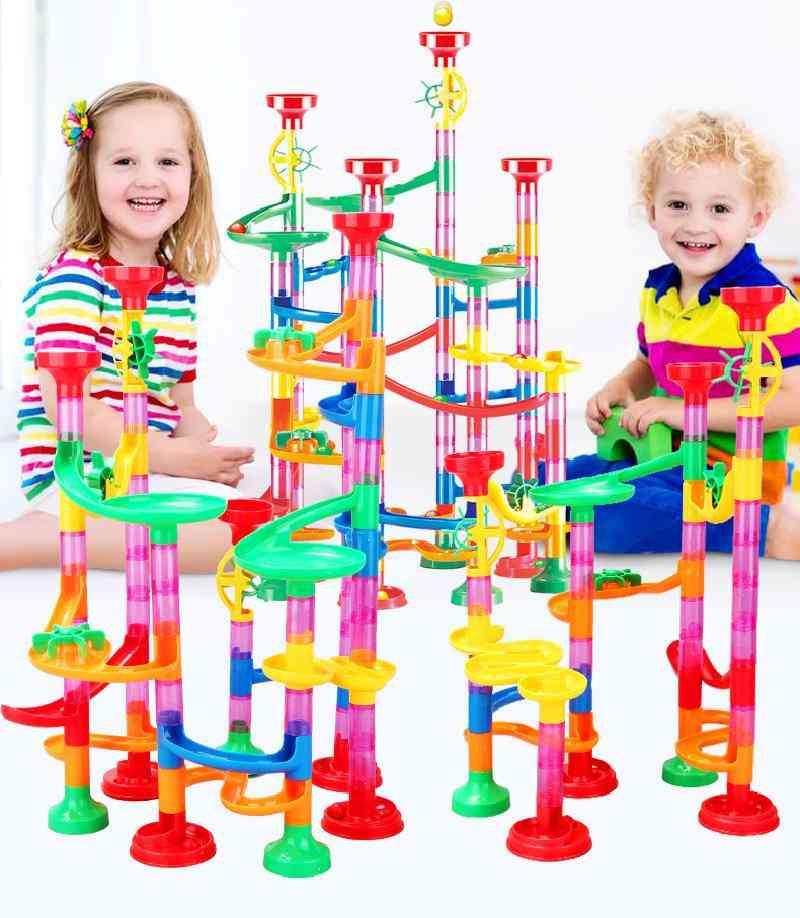 Educational Track Toy, Gravitrax Run Track Building Blocks Kids Maze Ball Roll