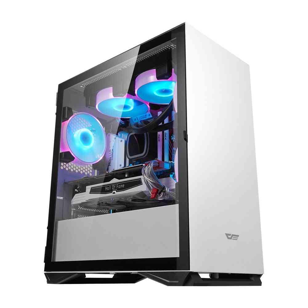 Darkflash Desktop, Computer Case, Pc Gamer, Mini Chasis, Tempered Glass, Gaming