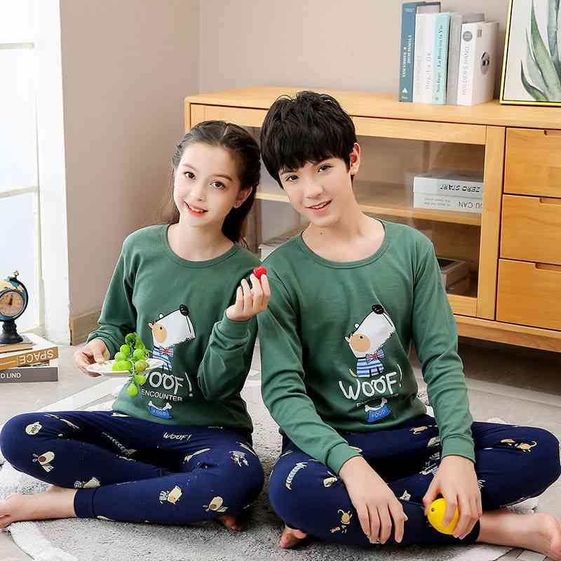 Autumn Long Sleeve's Clothing Sleepwear Cotton Pajamas Sets