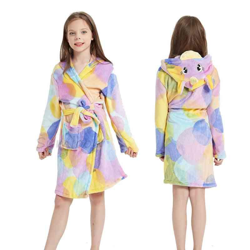 Animal Hooded Nightgown / Bathrobes  For Girl (set-2)