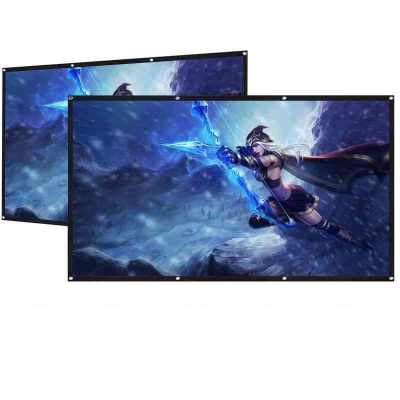 3d Hd Screen 60 / 72 For Led Dlp Projector Beamer Enhance Brightness Home