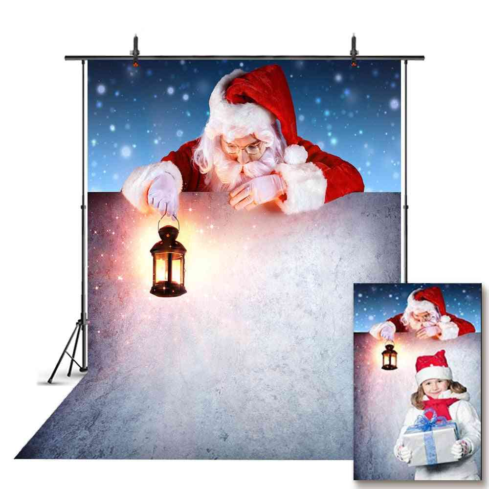 Snow Portrait Backdrop For Photography Snowflake, Background For Photo Christmas Tree
