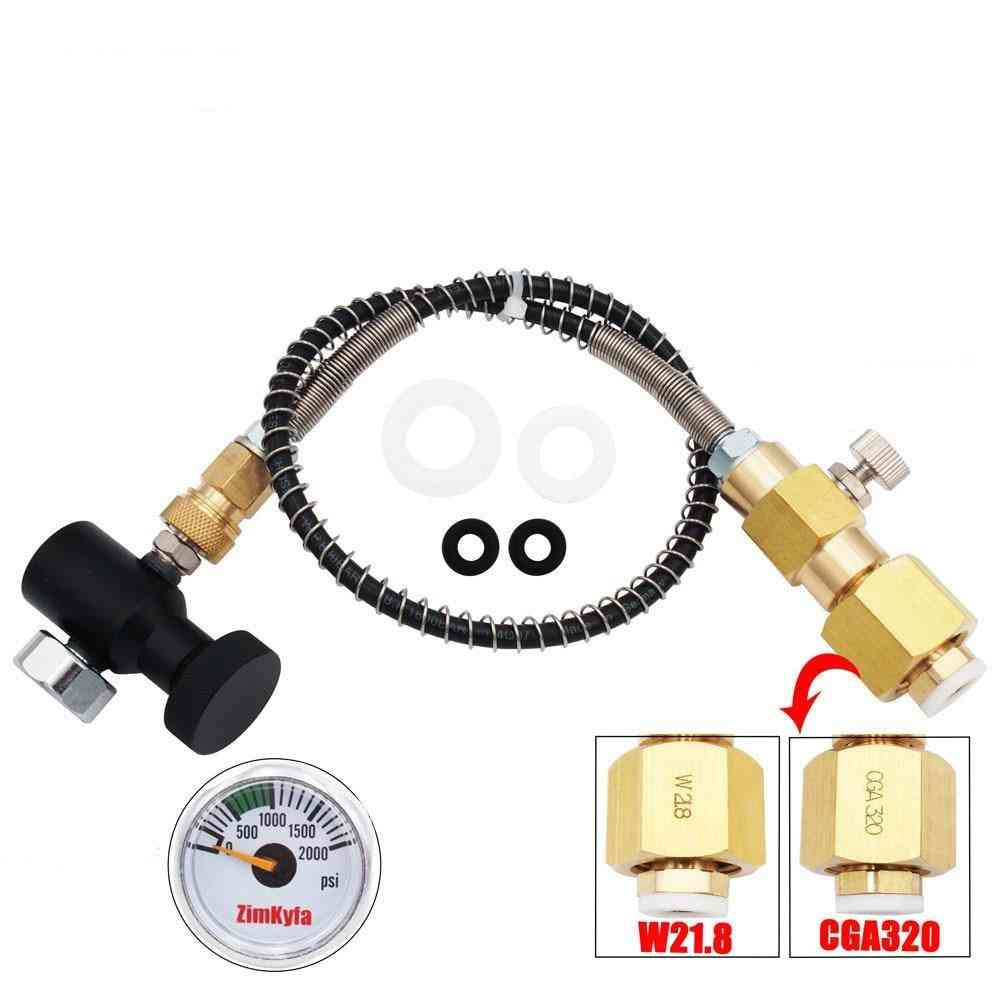 Sodastream Club, Carbon Dioxide Cylinder Tank, Refill Adapter, Charging Adaptor & Connection
