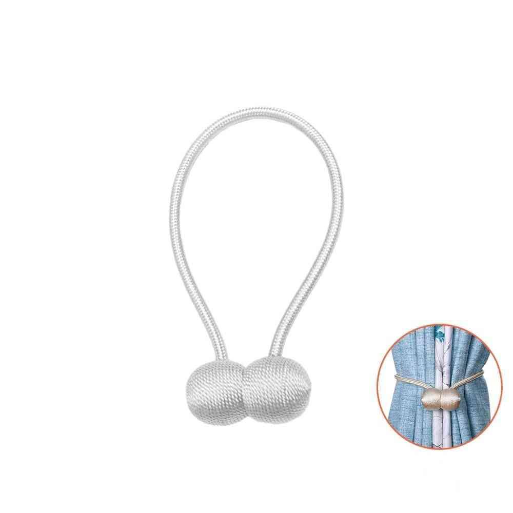 Magnetic Pearl Ball Curtain Tiebacks Holdbacks Buckle Clips