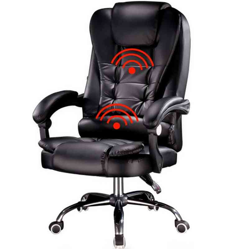 Pu Leather Boss Computer Chair, Office, Home, Swivel Massage, Lifting Adjustable Chairs With Footrest