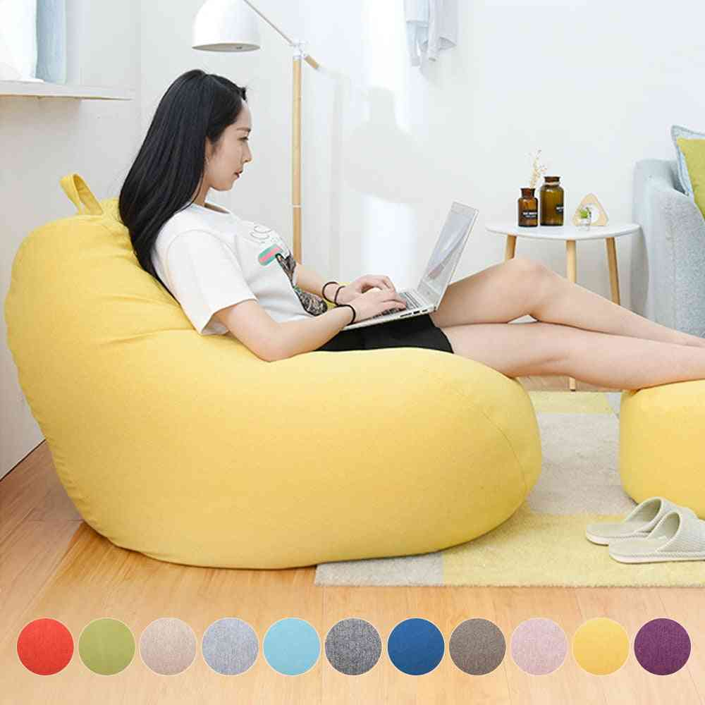 Comfortable Lazy Sofas Cover Without Filler - Seat Bean Bag Pouf Puff  Couch