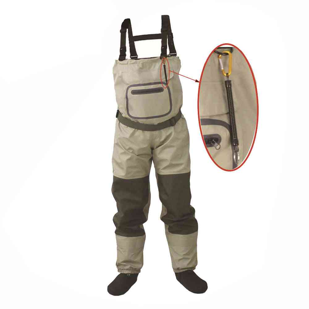 Fly Fishing Chest Waders, Breathable, Waterproof, Stocking Foot River Pants And Women