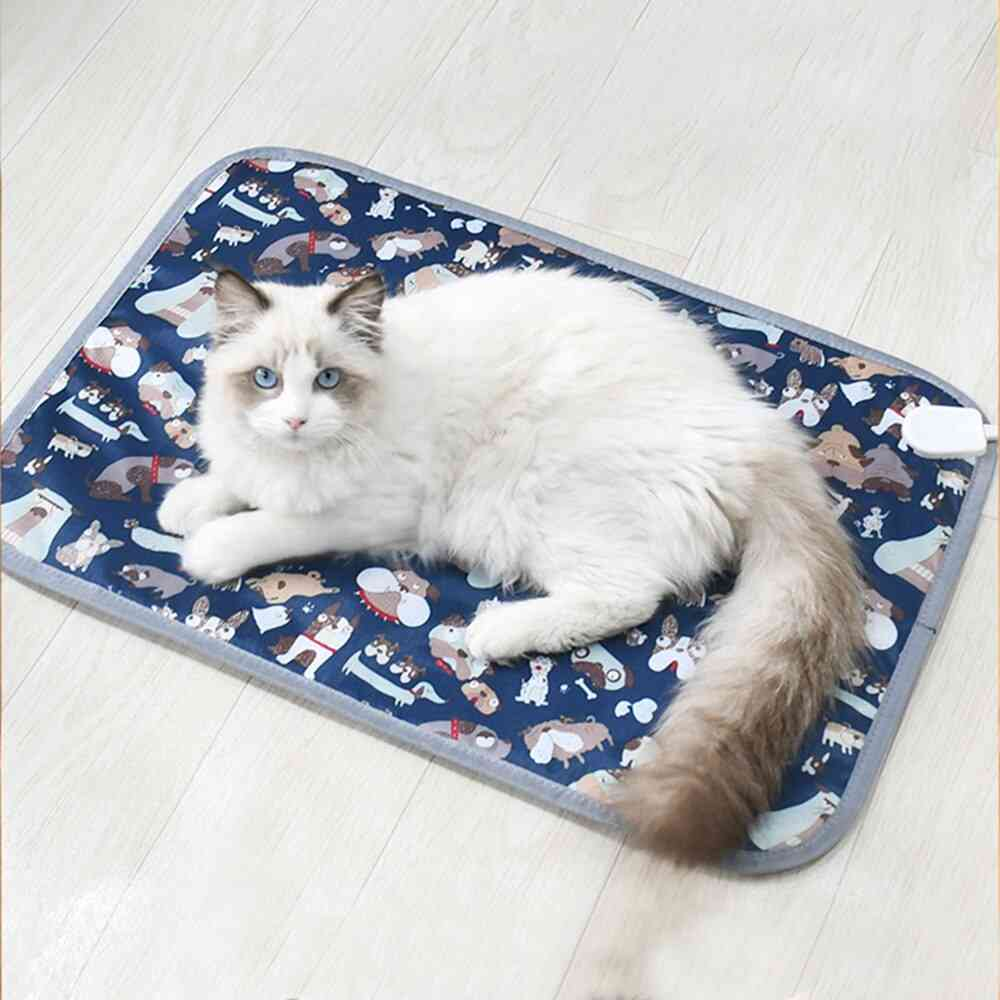 Pet Electric Blanket Bed, Heating Pad, Cat, Dog, Body Winter Warmer Carpet, Heated Seat