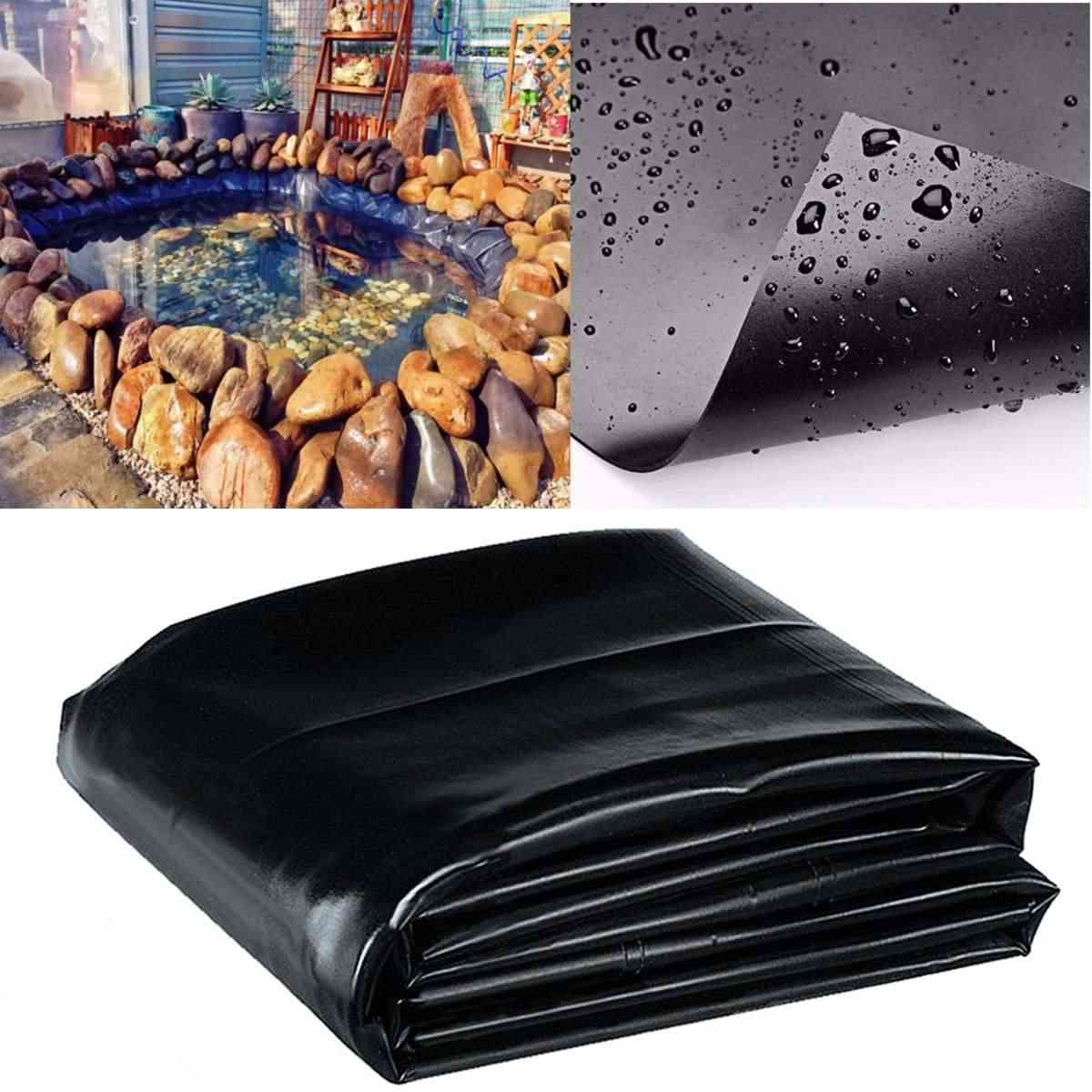 Fish Pond Liner Cloth, Home Garden Pool Reinforced, Hdpe Heavy Landscaping Pond, Waterproof