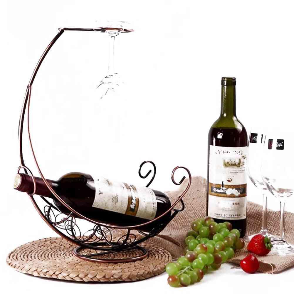 Creative Metal Wine Rack, Hanging Wine Glass Holder, Bar Stand, Bracket Display, Decoration