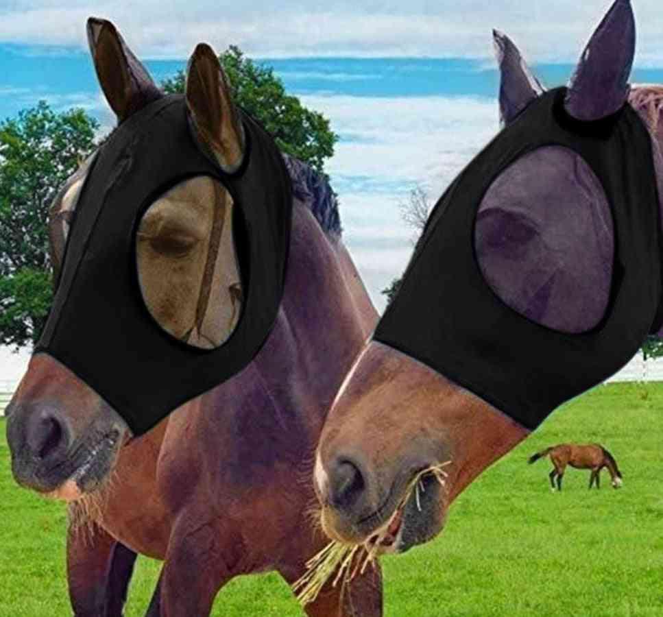Anti-mosquito Horse Mask Adjustable Mesh Horse Anti-fly Mesh Equine Mask