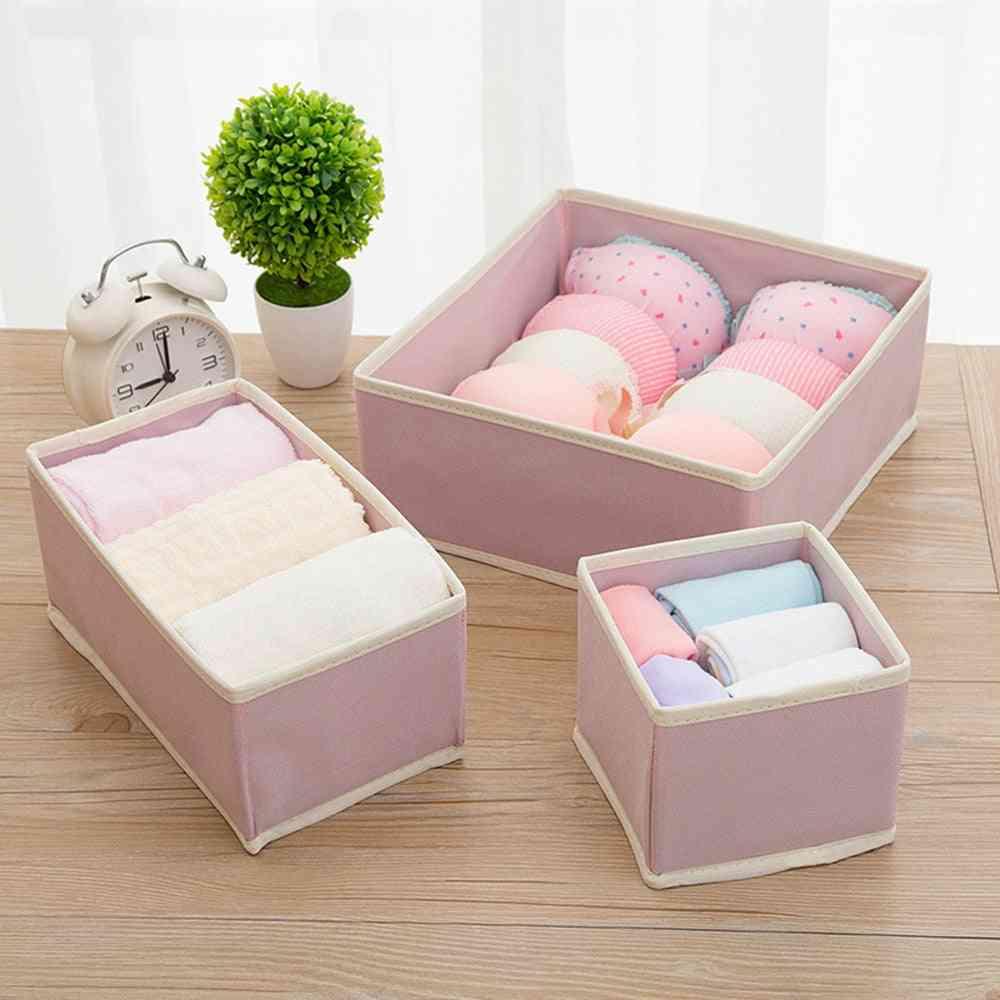 Foldable  Underwear Closet Drawer Divider - Lidded Closet Organizer - Storage Box