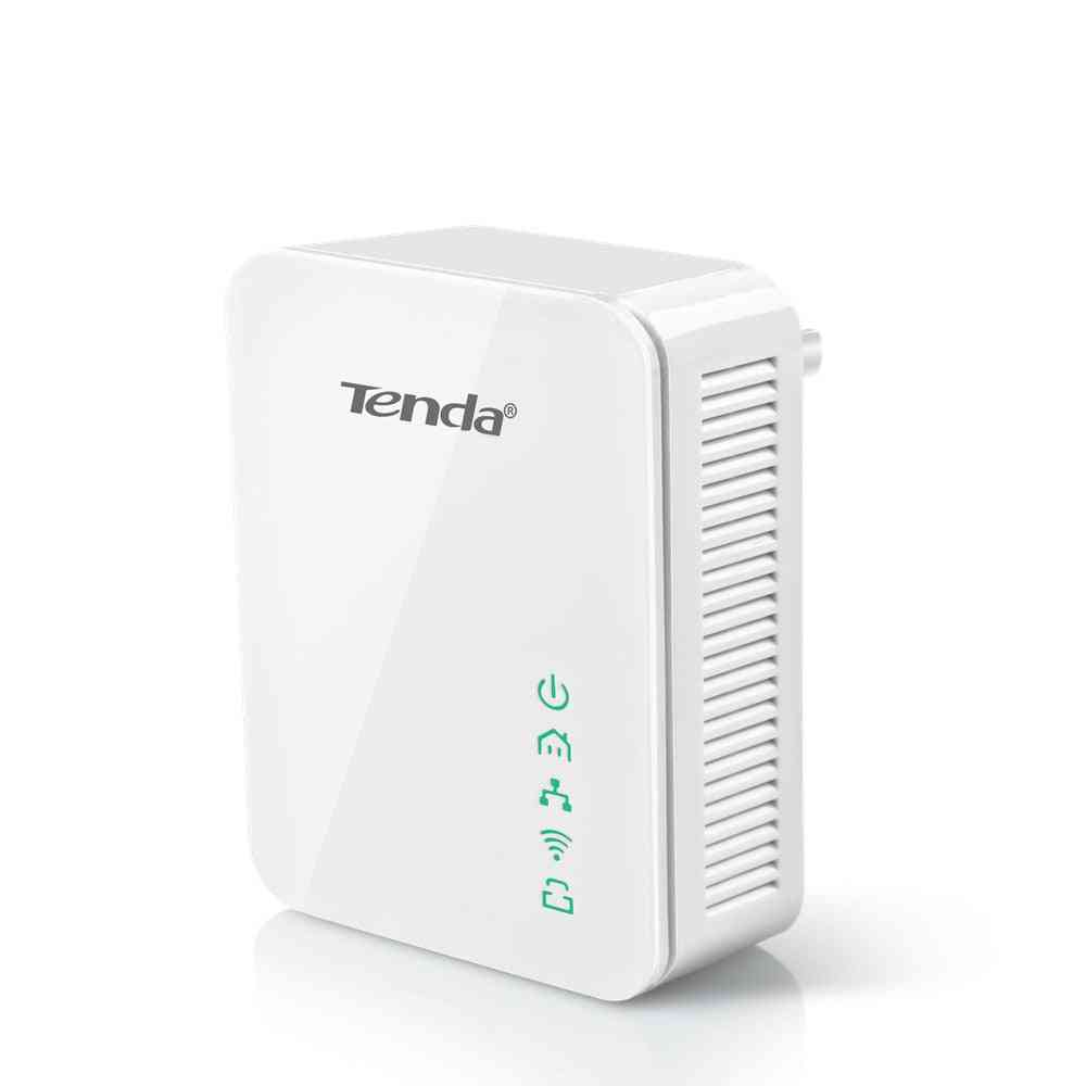 Tenda Pa202 Wireless Ethernet Adapter, Wired Plc Powerline Adapter, With Router