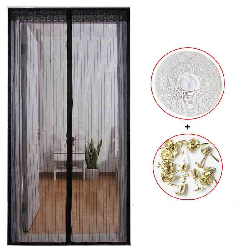 Upgrade Anti Mosquito Door Net With Magnet, Insect Fly Curtain Mesh, Hands-free Closing, Bug Screen