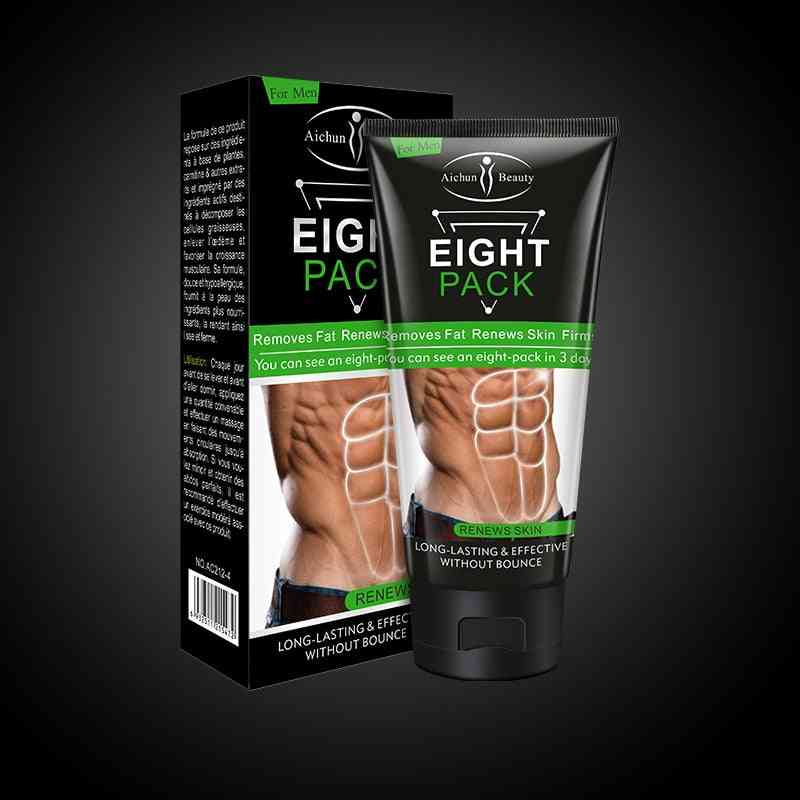 Men Eight Pack Stronger Muscle Cream Waist Torso Smooth Lines Muscle Fat Remover