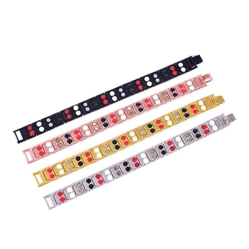 Health Care Bangle Slimming Stainless Steel Tourmaline Magnetic Bracelets/men