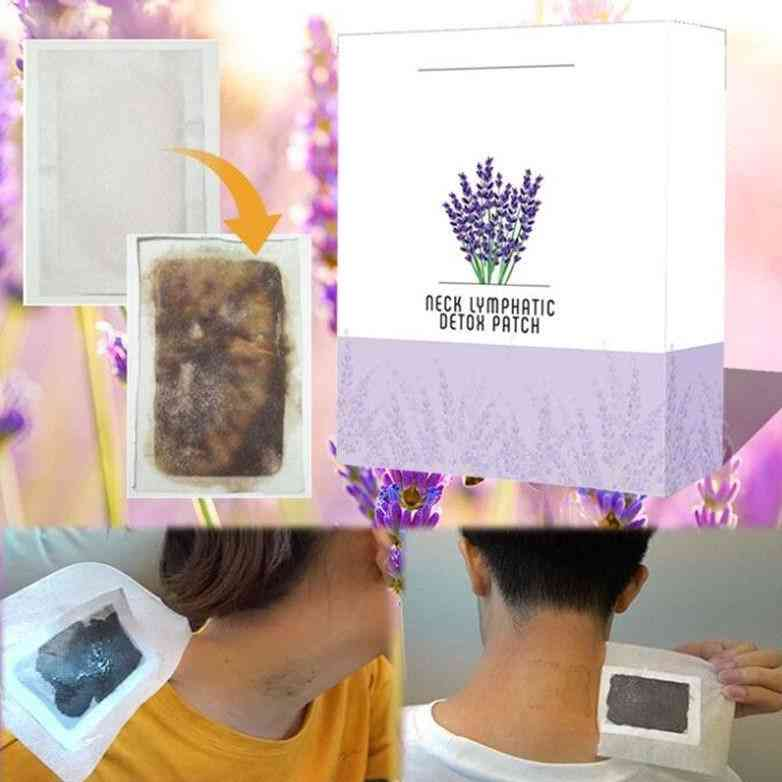Neck Lymphatic Detox Patch Anti-swelling Herbal Foot Body Relaxation  (as Picture)