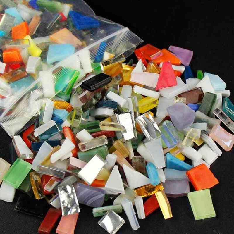 Crystal Glass Mirror Tiles Irregular Shape Mosaic Stone Diy Art Craft