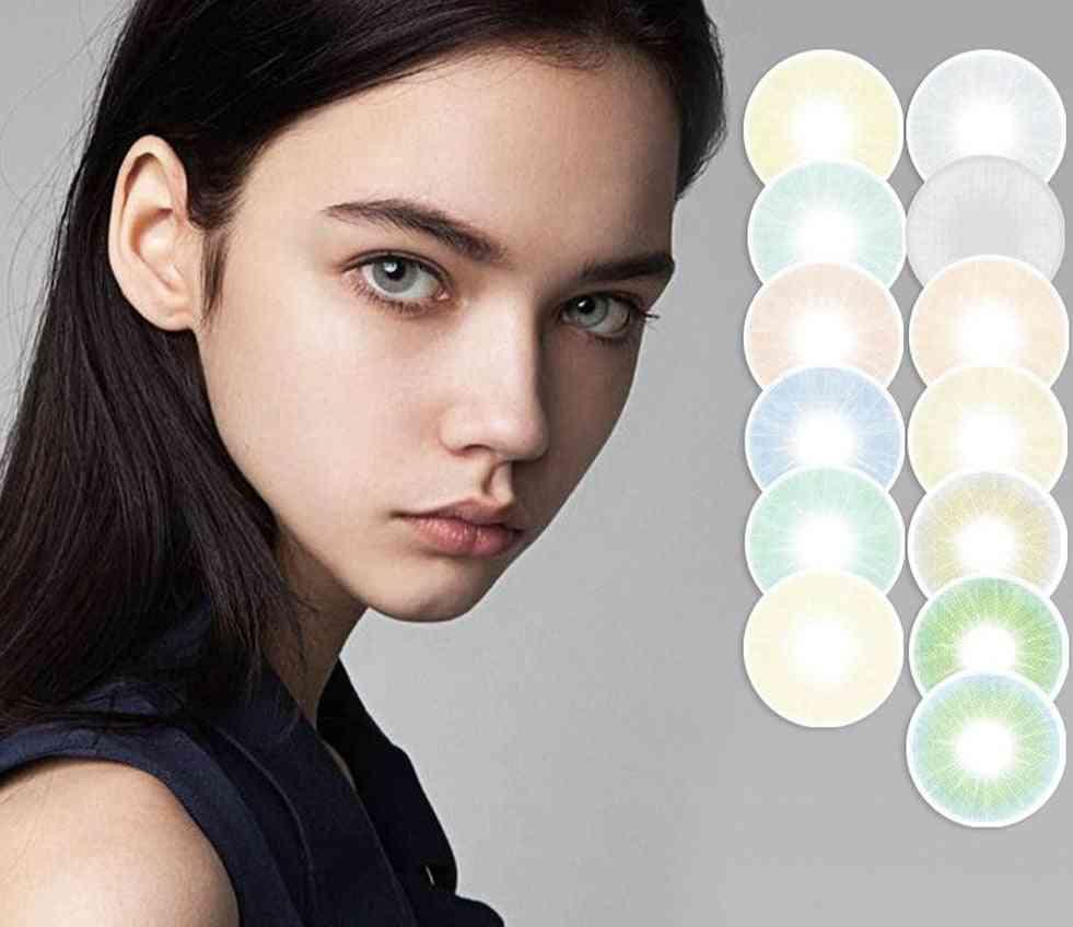 Hidrocor Queen Series Colored Contact Lenses Annual Soft Color Contact Lens
