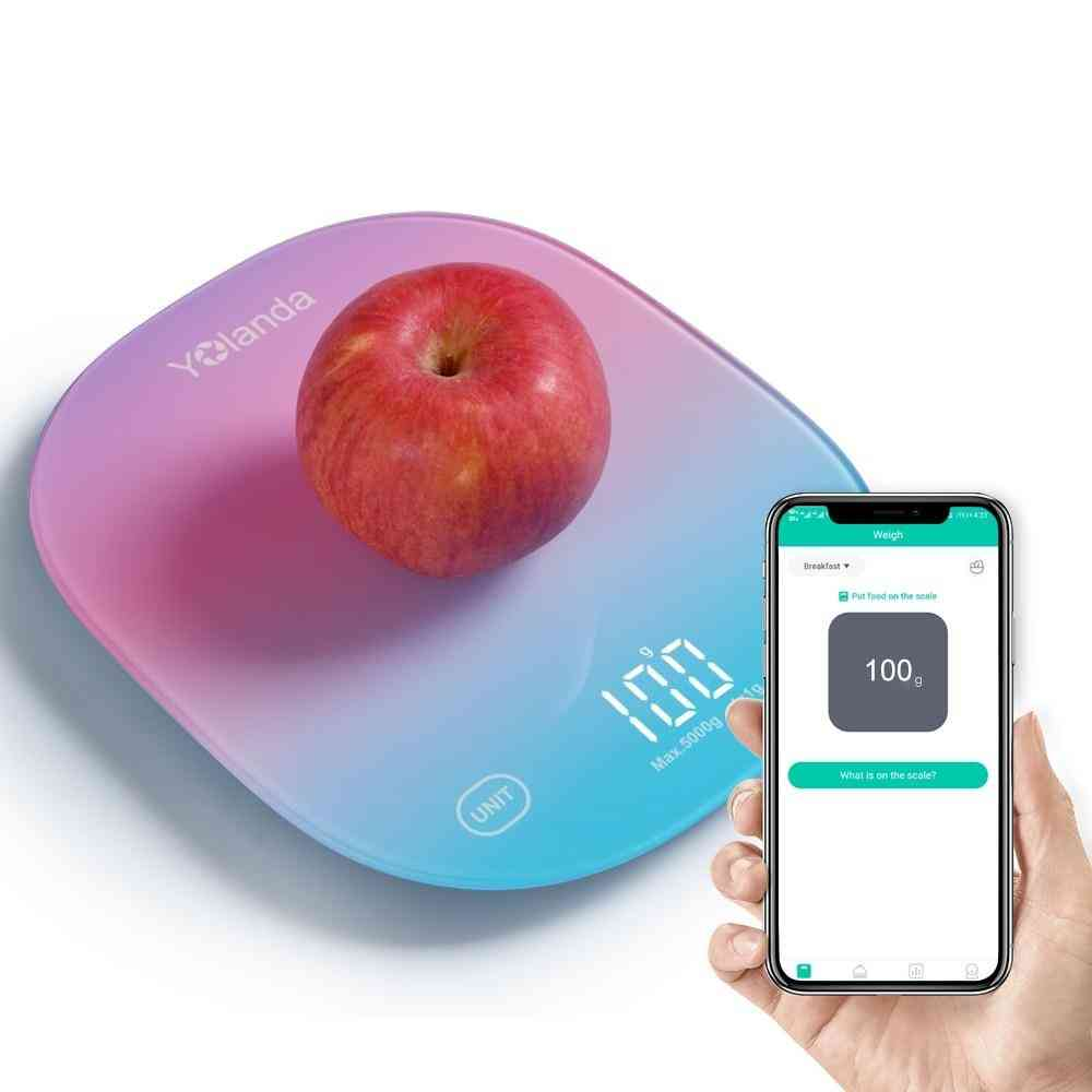 Smart Kitchen Scale Bluetooth Scales Food Balance Cuisine Weighing Measuring Tool