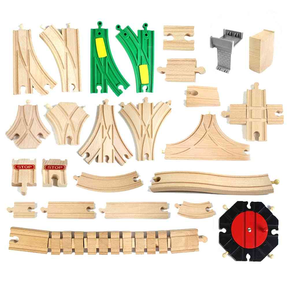 Wooden Railway Track Toy Universal Accessories