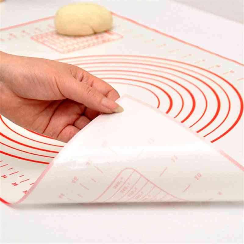 Non Stick Silicone Baking Mat, Multi-size With Scale, Rolling Dough Pad, Kneading, Kitchen Cooking Pastry Sheet, Oven Liner