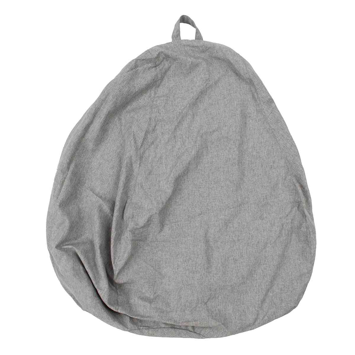 Large Small Lazy Sofas Cover Chairs Without Filler Linen Cloth Lounger Seat Bean Bag Pouf Puff