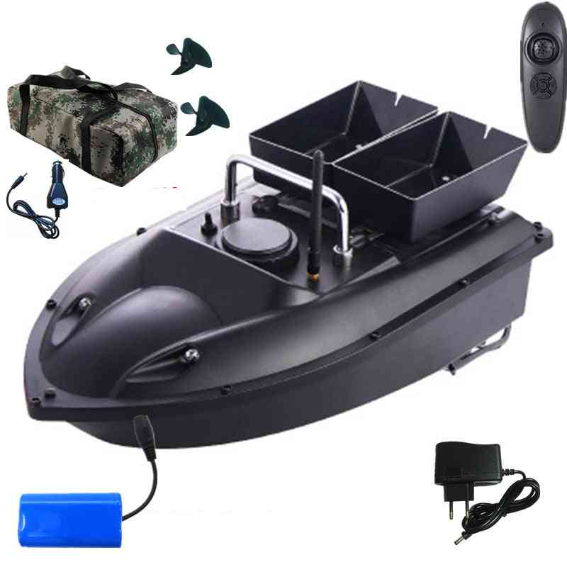 Double Hopper Motor, Fixed Speed Cruise, Automatic Feed,  Fishing Bait Boat With Waterproof Bag Car Charger