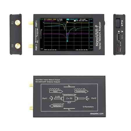 Nanovna-f Vna Swr Meter Vhf Uhf Antenna Analyzer Lcd + Metal Case Deepelec