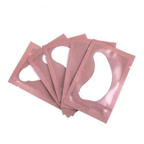 Patches For Eyelash Extension, Under Eye Pads Paper Patches Pink Lint-free Stickers