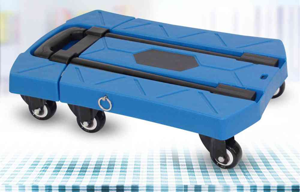 B-life Folding Hand Truck, Heavy Duty, Solid Construction, Utility Cart, Extendable, Portable, Fold Up Dolly