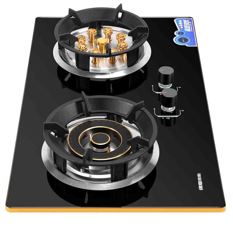 5500w Gas Stove Double Fire Embedded Cooktop Catering Equipment