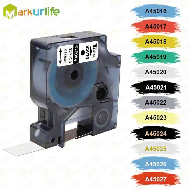 1p Labeling Tape D1 Cartridge Compatible For Dymo Labelmanager Writer Maker