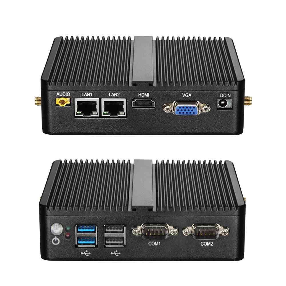 Quad-core Dual Lan Fanless Desktop Computers