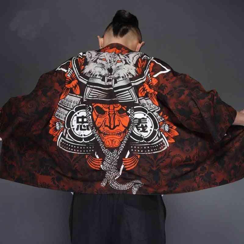 Men Japanese Kimono Traditional Samurai Costume Japanese Streetwear