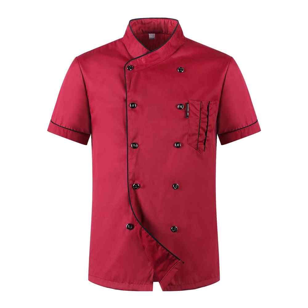 Chiefs Short Sleeve Summer Restaurant Hotel Kitchen Workwear Jacket + Hat + Apron