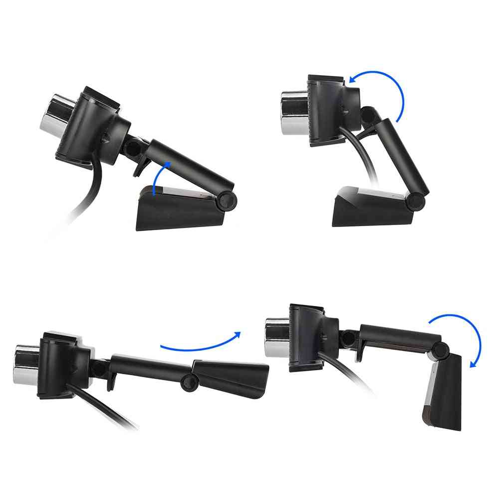Usb Rotating Camera For Video Recording Webcam With Microphone