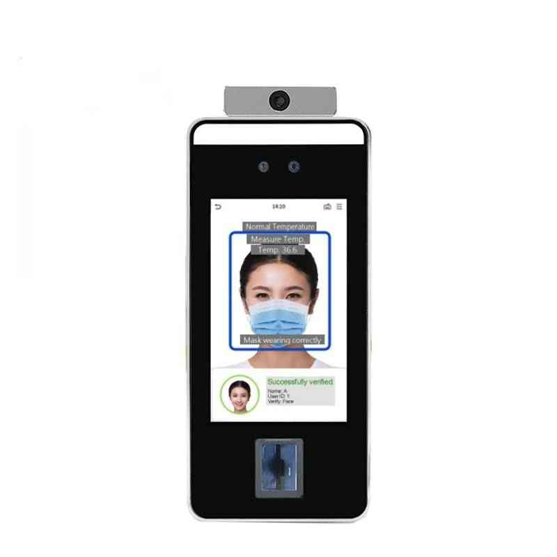 Zk Face Recognition Terminal Infrared Sensor Face Detection Temperature Measurement Access