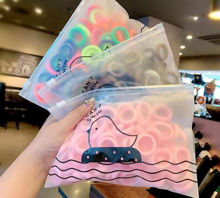 Girls Colorful Nylon Small Elastic Hair Bands