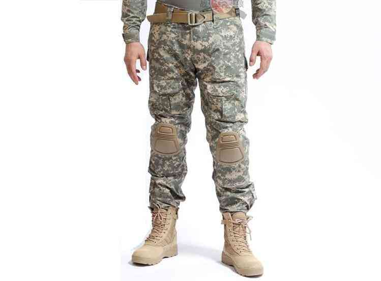 Military Tactical Pants Army Military Uniform Trouser-with Knee Pads