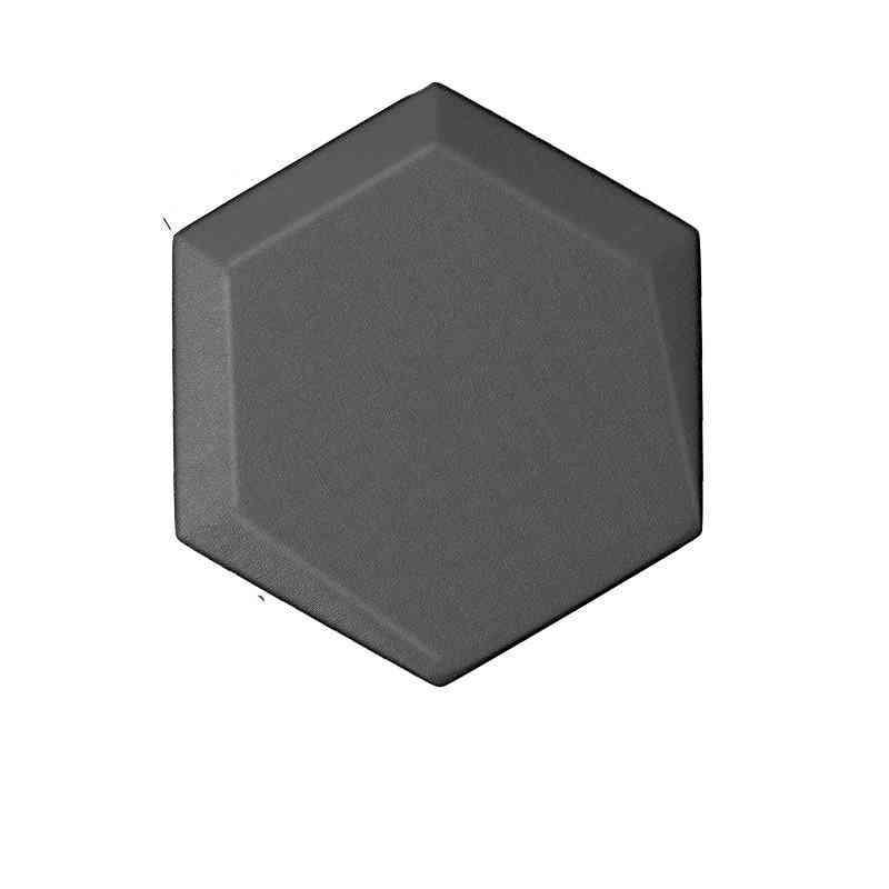 3d Soft Leather Panel Hexagon Acoustic Luxury Decorative Art