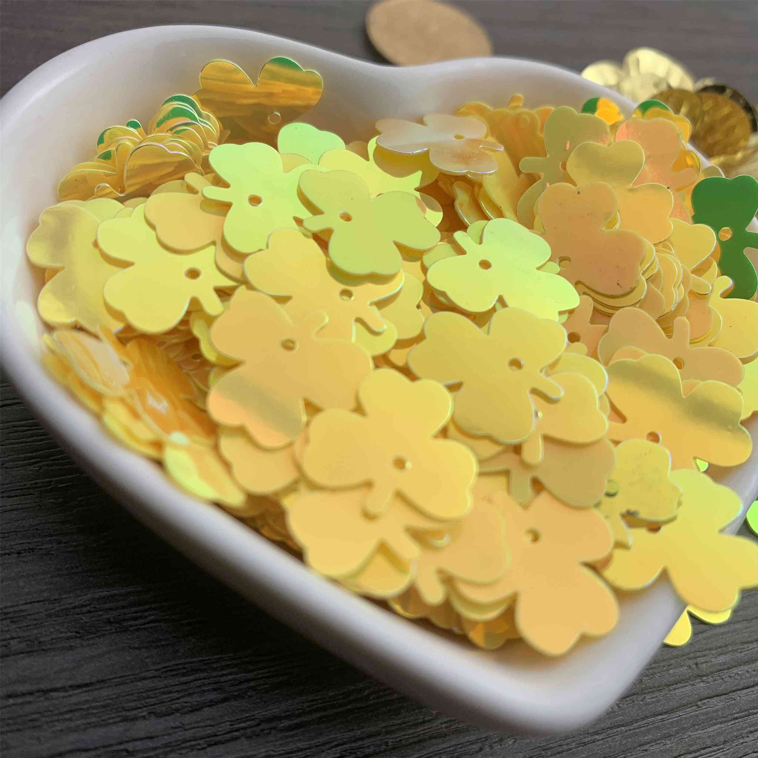 Loose Pvc Sequins Lucky Grass Shape Sequins Diy Dress Clothing Accessories