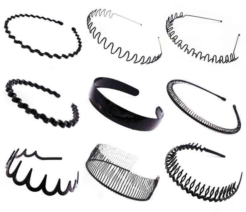 Mens, Women, Unisex Wavy Hair Head Hoop Band, Sport Headband, Hairband, Accessories